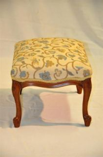 French Louis XI Style Walnut Foot Stool Completely Finished Circa 1930