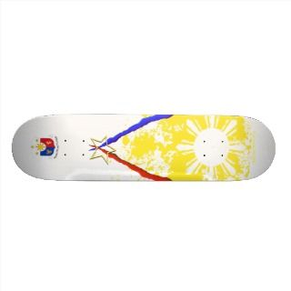 style Philippine flag Skateboard Deck