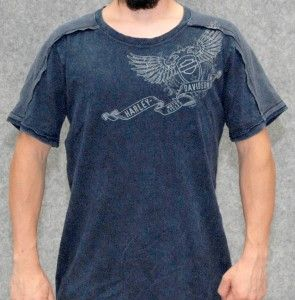 MENS HARLEY DAVIDSON EAGLES & SKULLS LEFT WINGED B&S T SHIRT XL NWT SO