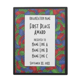 Childrens Toy Art   Building Blocks Award Display Plaque