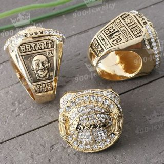 NBA Los Angeles Lakers Kobe Championship Replica Mens Ring 00 01 02