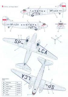 Techmod Decals 1 72 C 47A Skytrain Polish Air Force