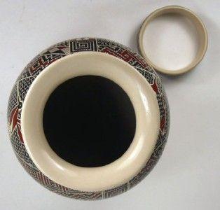 Mata Ortiz Pottery by Lorena Lopez Geometric Olla
