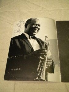 Louis Armstrong Tyree Glenn Billy Kyle Jewel Brown Signed Program 1965