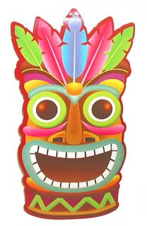 PK 8 Luau Tiki Decor Party Wall Hangings 11 x 7