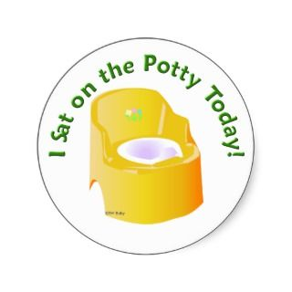 KRW Yellow I Sat on the Potty Training Reward Round Sticker