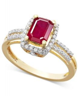 Effy Collection 14k Gold Ring, Ruby (2 1/4 ct. t.w.) and Diamond (1/2