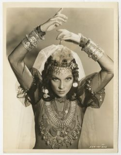 Vintage 1936 Tilly Losch Art Deco Dance Photograph Garden of Allah