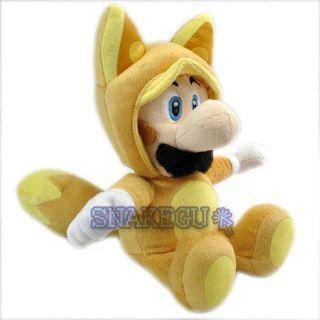 New Super Mario 12 5 Fox Kitsune Luigi Plush Doll Toy MX1747
