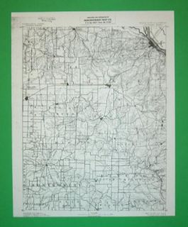 Louisiana Missouri Civil War Sites 1887 Topo Map