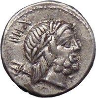 Roman Republic Silver Denarius L. Lucretius Trio 74BC Neptune Cupid