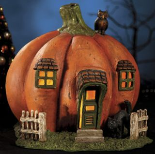 13 Bethany Lowe Halloween Resin Lighted Pumpkin House Retro Resin