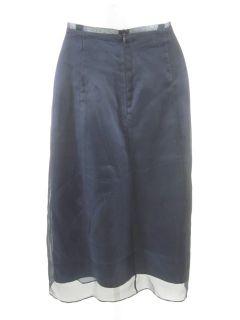 Lynn Lugo Navy Blue Tulle Mid Calf Length Skirt Sz 6