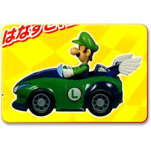 Mario Kart Wii Pull Back Racer Vehicle Figure Speedy Luigi