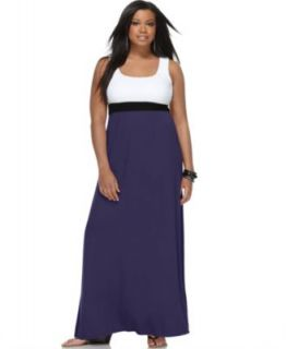 Love ady New White Stretch Sleeveless Maxi Casual Dress Plus 1x BHFO