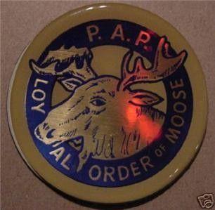 Loyal Order of Moose 2 Epoxy Car Emblem Sticker New