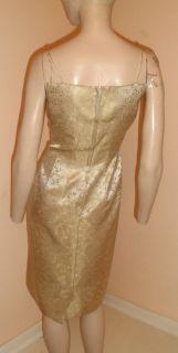 Vintage 60s Mad Men Floral Damask Pencil Hourglass Empire Waist Suit