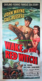 Wake of The Red Witch Movie Poster John Wayne 3 Sheet