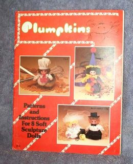 Plumpkins Patterns Instructions 8 Soft Sculpture Dolls