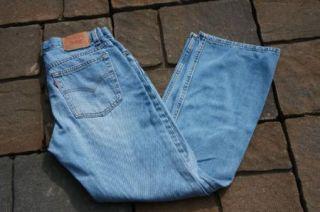 Womens Blue Jeans Levis Strauss 515 Boot Cut Lower 10 8996