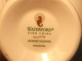 WATERFORD KILBARRY PLATINUM TEA CUPS NEW W/ TAGS No 118263 LOW PRICE