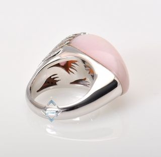 white gold and diamond Peacock ring with the peacock feather design