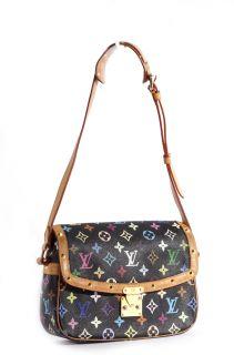 Louis Vuitton Multicolor Black Sologne Bag
