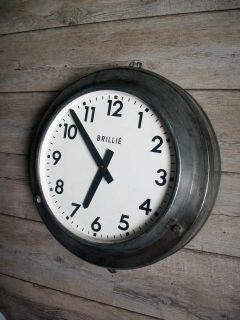 Old Train Station Factory Industrial Clock Bauhaus N3
