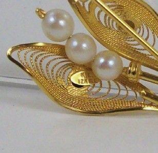 Gold Filled Brooch Pin Karen Lynne of Charles Rothman Co Signed