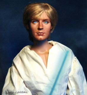 Doll Repaint inspired by Star Wars Luke Skywalker OOAK by Laurie Leigh