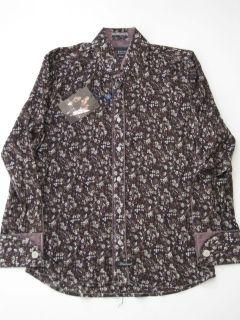 LS Haxton Blk Floral Shirt Button Up Longsleeve M Scott Weiland
