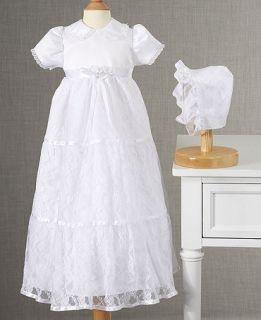Lauren Madison Baby Dress, Baby Girls Lace Tiered Christening Dress