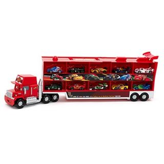 New Disney Cars Huge Talking Mack Transporter 10 Die Cast Cars