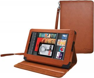 Leather Case Cover Holder for  Kindle Fire 7 inch Tablet