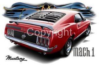 1970 Ford Mustang Mach 1 Official Licenced Tshirts