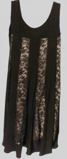 Richards New Womens Black Dress Sz 6 8 12 14 Ret $69 BTS