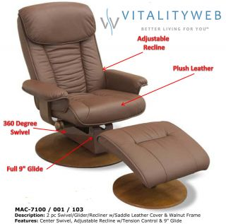 Mac Motion 7100 Swivel Glider Recliner Comfort Chair and Ottoman