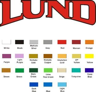 Lund Boat Decals Multi Color Bass Bait Lure Spinner