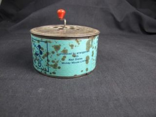 RARE Mickey Mouse Safe Toy Music Box Ensign Mickey Mouse