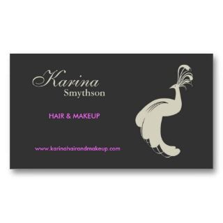 PEACOCK FLOURISH in AN/GRAY Business Card