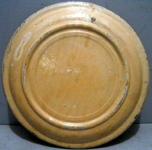 Old 11 Mexican pottery charger in the Fantasia pattern   yellow with