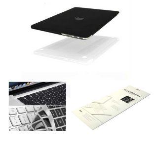 Rubberized Hard Case for MacBook Pro 15 Retina Keyboard Skin Black