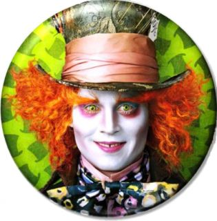 Mad Hatter 1 Pin Button Badge Magnet Alice Wonderland Johnny Depp
