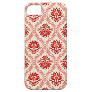 Red Floral Damask iPhone Case iPhone 5 Case