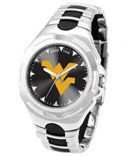 Game Time Watch, Mens West Virginia University Black Rubber and
