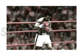 Muhammad Ali Boxing Painting Canvas Art Poster Print