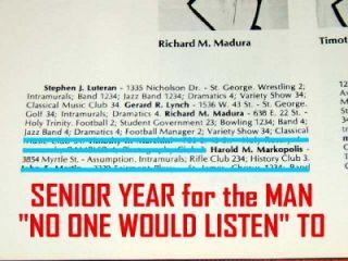 High School Yearbook Bernie Madoff Ponzi Scheme Whistle Blower