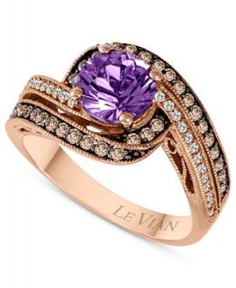 Le Vian 14k Rose Gold Ring, Amethyst (1 1/6 ct. t.w.), Chocolate and