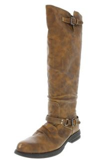Madden Girl Zoiiee Brown Block Heel Knee High Boots Shoes 7 5 BHFO