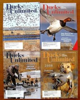 DUCKS UNLIMITED Magazines 2008 2009 +BONUS Leader In Wetlands